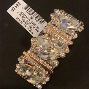 Crystal Bracelet in rose gold tone
